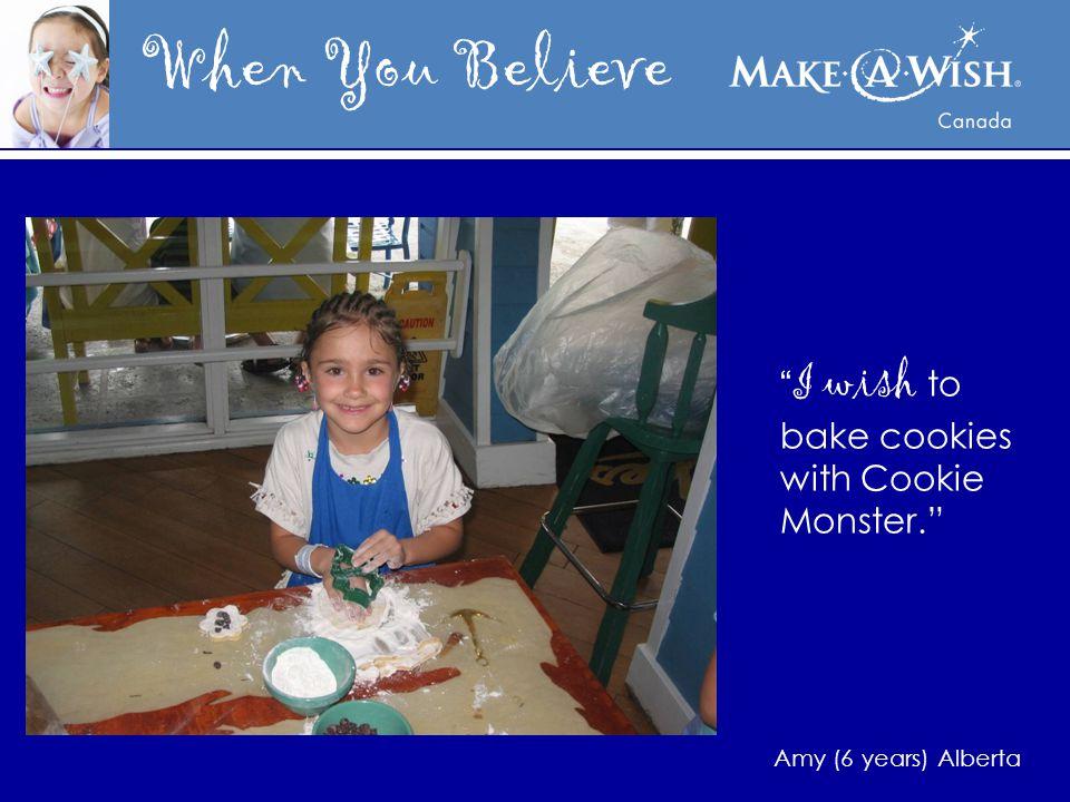 When You Believe I wish to dance with Mia Michaels. Erica (age 12) Nova Scotia