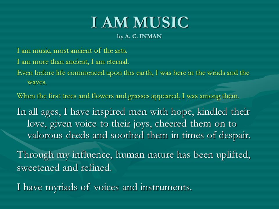 I AM MUSIC by A. C.