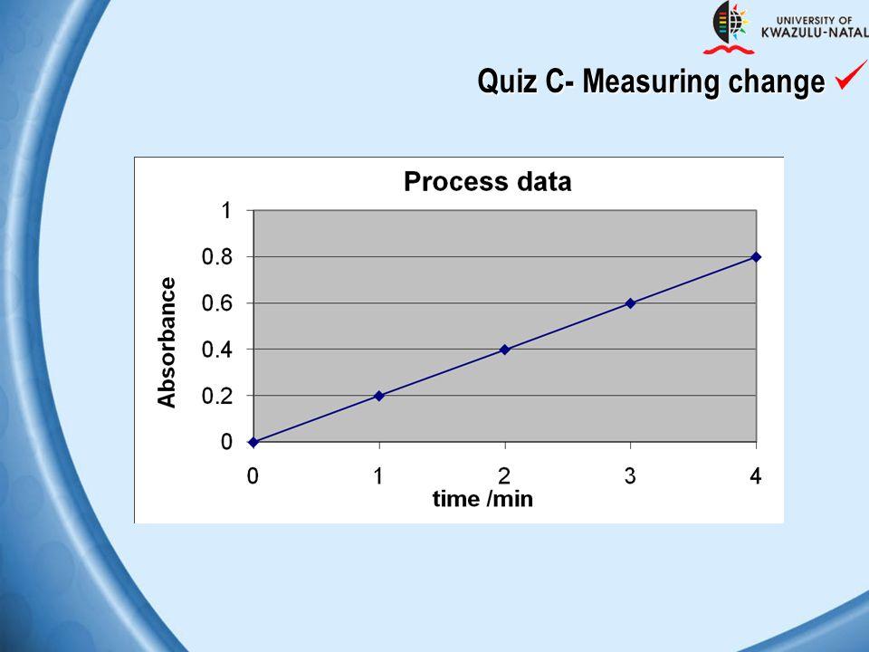 Quiz C- Measuring change