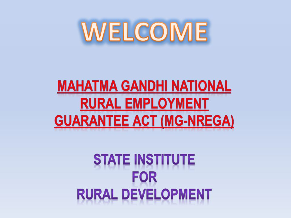Q.1 What is the objective of the Mahatma Gandhi National Rural Employment Guarantee Act (NREGA).