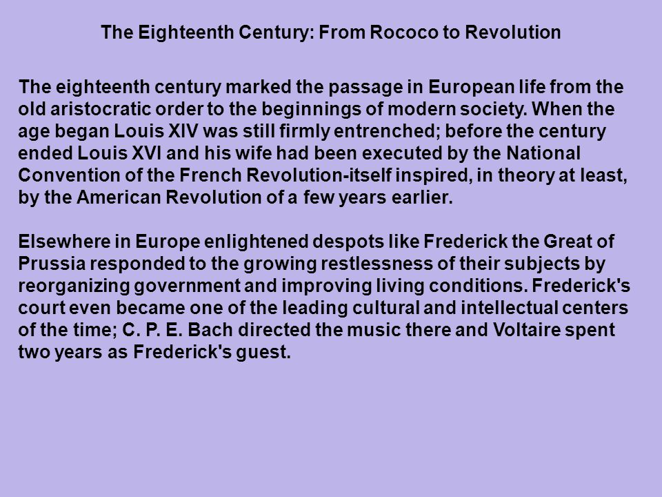 The contrast between revolutionaries and conservatives lasted right to the eve of the French Revolution.