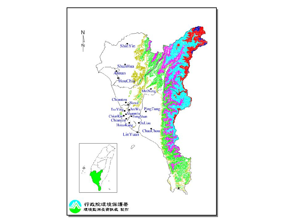 Annual average concentrations of CO 、 SO 2 、 NO 、 O 3, PM 10 and NMHC in southern Taiwan