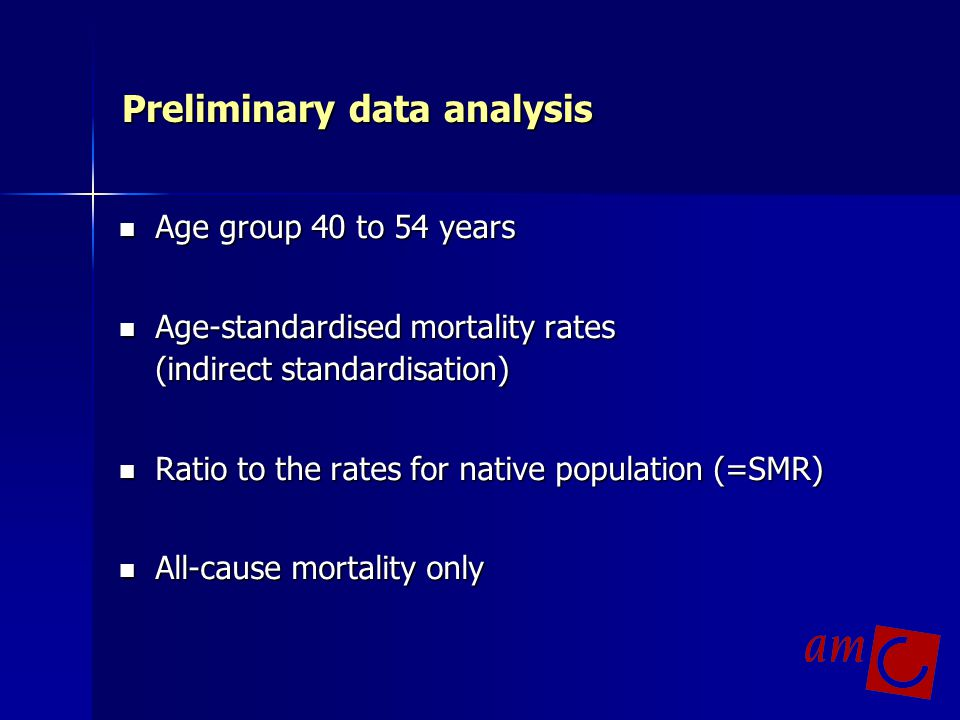 Further work in the MEHO mortality part Analyses of specific causes of death: - infectious diseases - cancer - cardiovascular diseases - diabetes mellitus Analyses of specific causes of death: - infectious diseases - cancer - cardiovascular diseases - diabetes mellitus Analysis of specific groups - Polish immigrants to 7 countries - Russians in Estonia, Latvia and adjacent Russia Analysis of specific groups - Polish immigrants to 7 countries - Russians in Estonia, Latvia and adjacent Russia