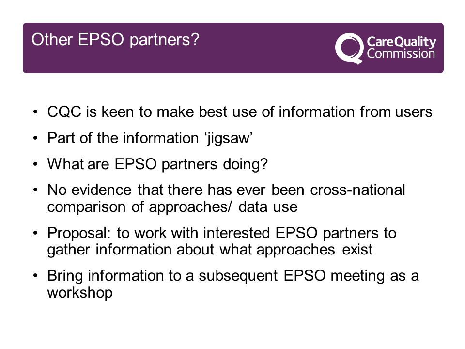 Other EPSO partners.