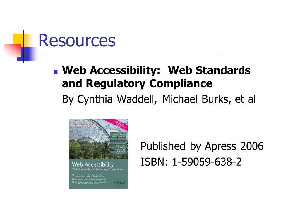 Resources Critical Issues from a Disability Perspective: Accesibility by Cynthia D.