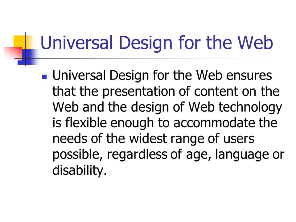 The Problem People with Disabilities are being locked out from accessing the content of the World Wide Web Why.