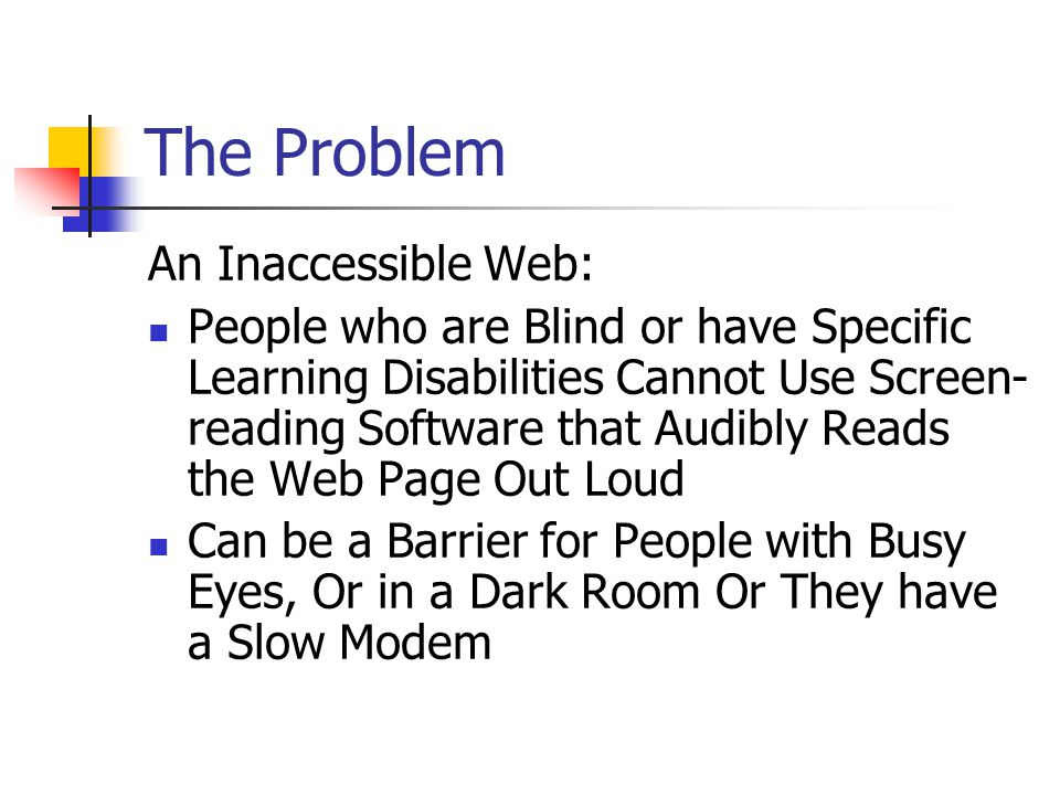 Universal Design for the Web Universal Design for the Web ensures that the presentation of content on the Web and the design of Web technology is flexible enough to accommodate the needs of the widest range of users possible, regardless of age, language or disability.