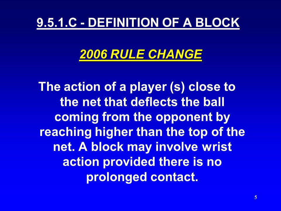 4 BLOCKING SITUATIONS