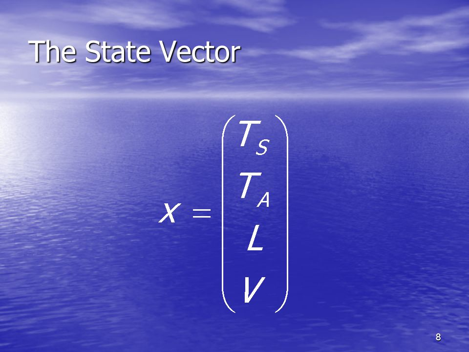 8 The State Vector