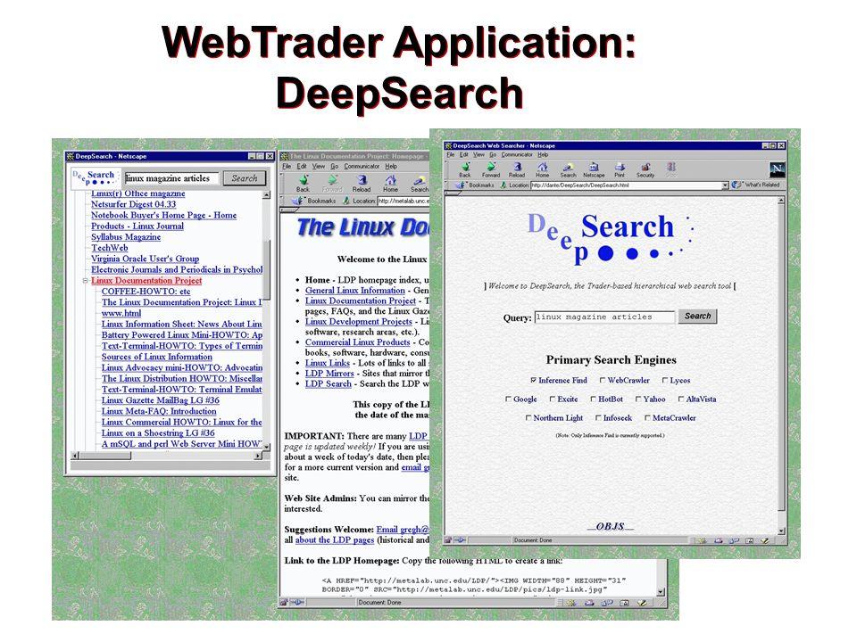 WebTrader Application: DeepSearch