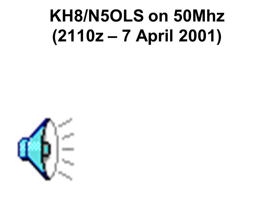 KH6/K6MIO on 50Mhz (0930z – 18 Oct 2001)