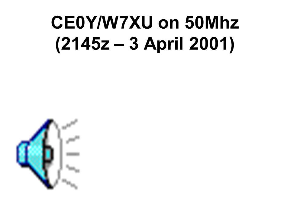 KH8/N5OLS on 50Mhz (2110z – 7 April 2001)