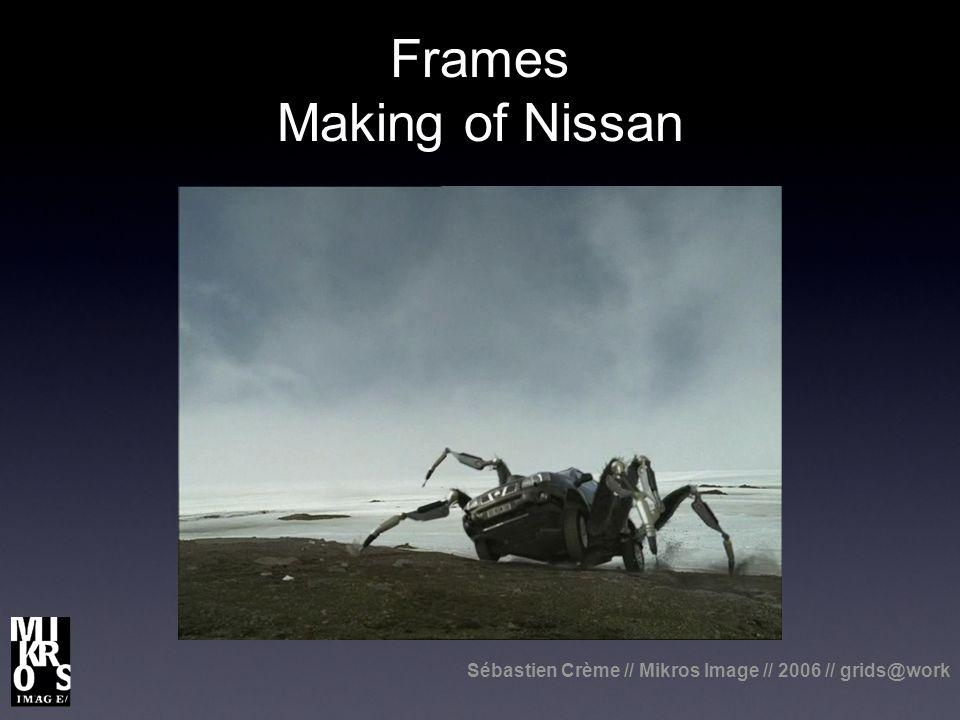Sébastien Crème // Mikros Image // 2006 // grids@work Frames Making of Nissan