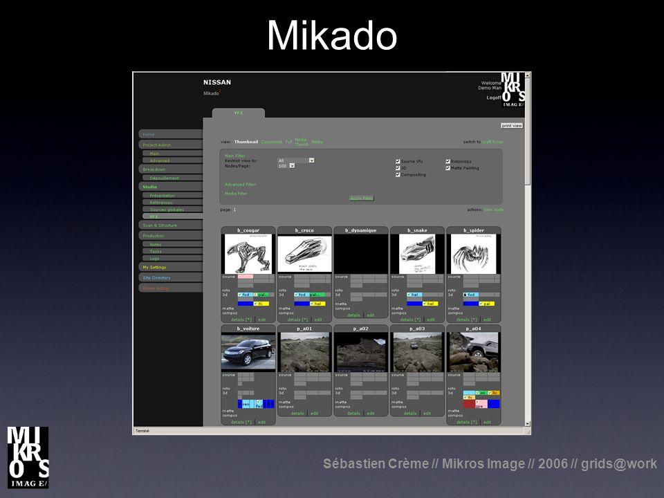 Sébastien Crème // Mikros Image // 2006 // grids@work Mikado