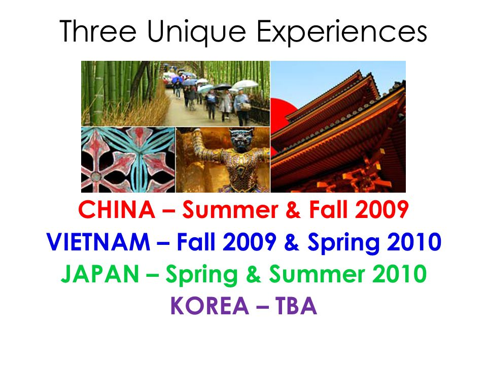 The program offers: – Experiences in Japanese culture.