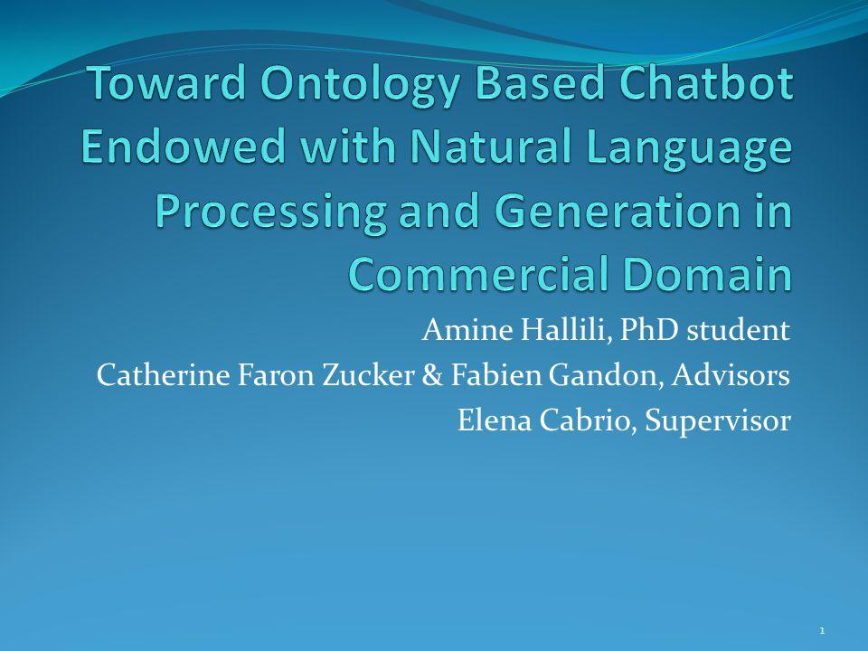 Amine Hallili, PhD student Catherine Faron Zucker & Fabien Gandon, Advisors Elena Cabrio, Supervisor 1