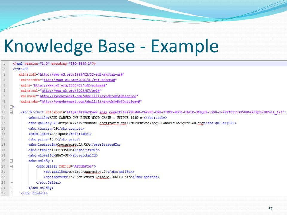 Knowledge Base - Example 17