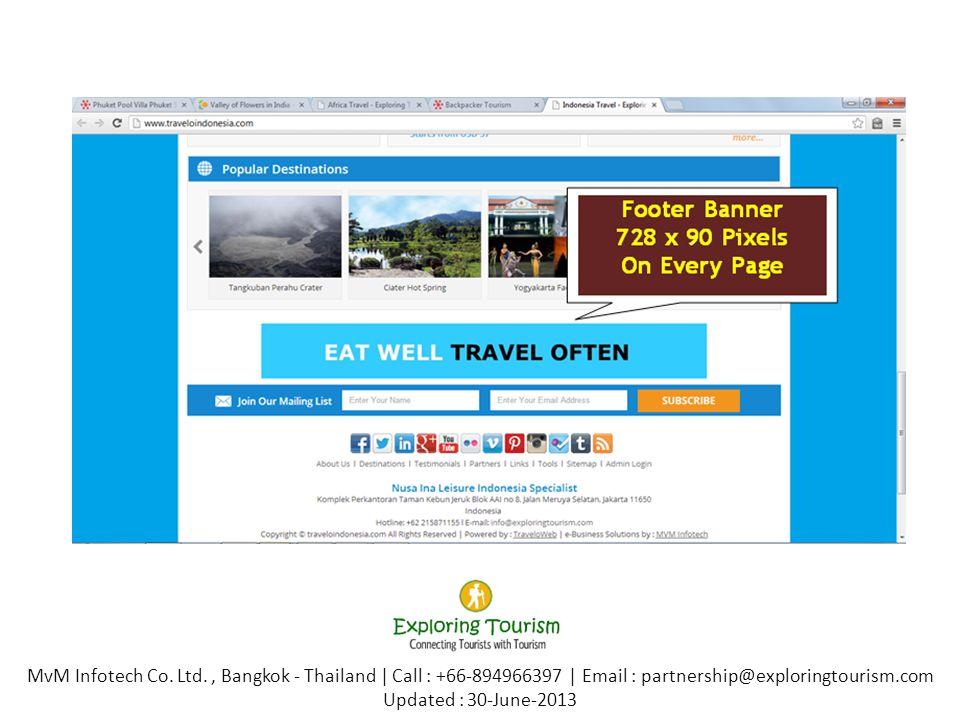 www.exploringtourism.comwww.exploringtourism.com 3 Months Statistics MvM Infotech Co.