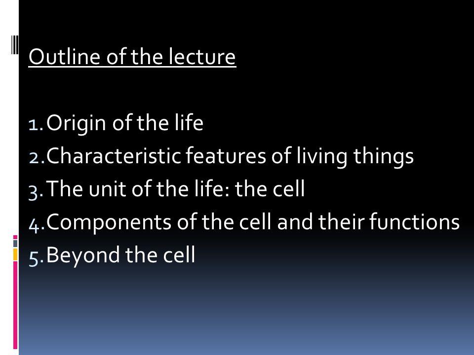 1.Origin of the life
