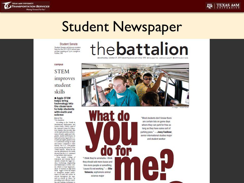transport.tamu.edu Student Newspaper