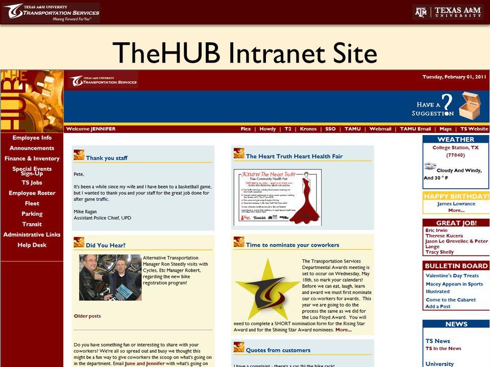 transport.tamu.edu TheHUB Intranet Site
