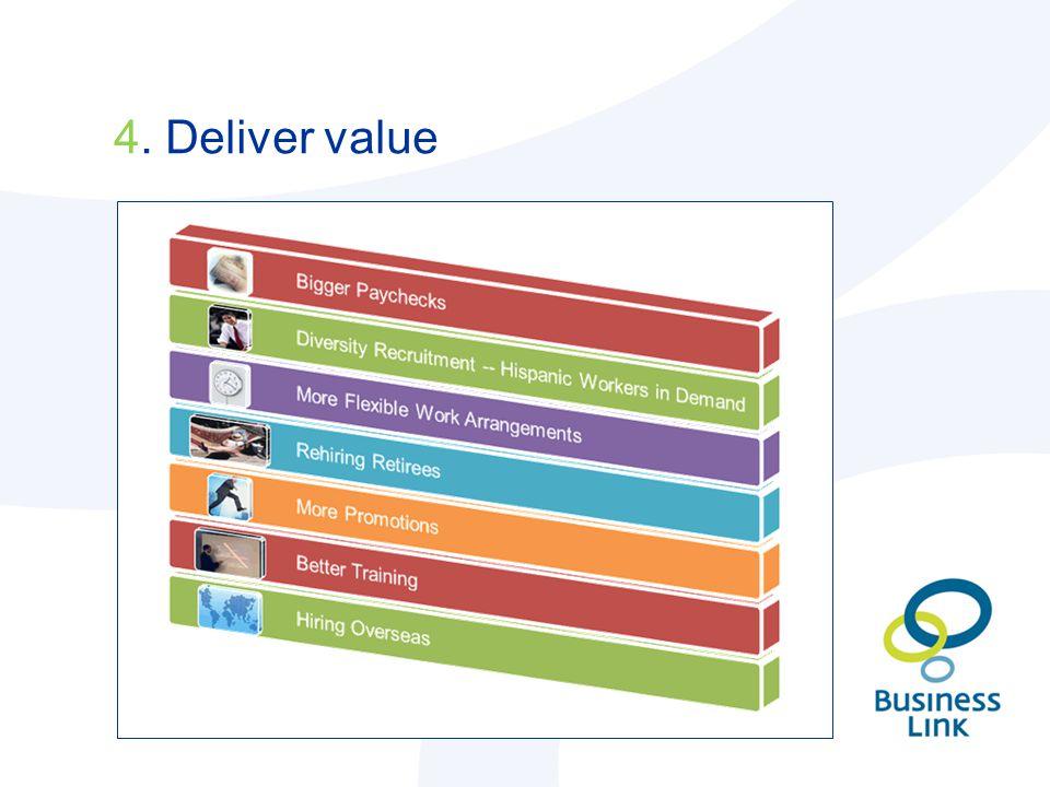 4. Deliver value