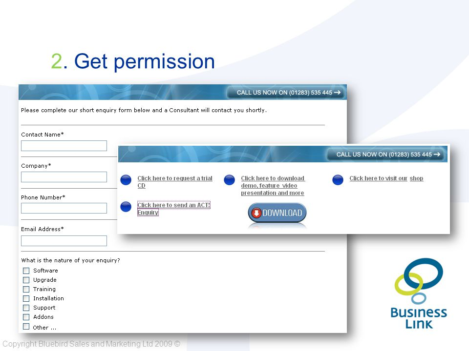 Copyright Bluebird Sales and Marketing Ltd 2009 © 14. Use 'HTML' But Keep It Simple