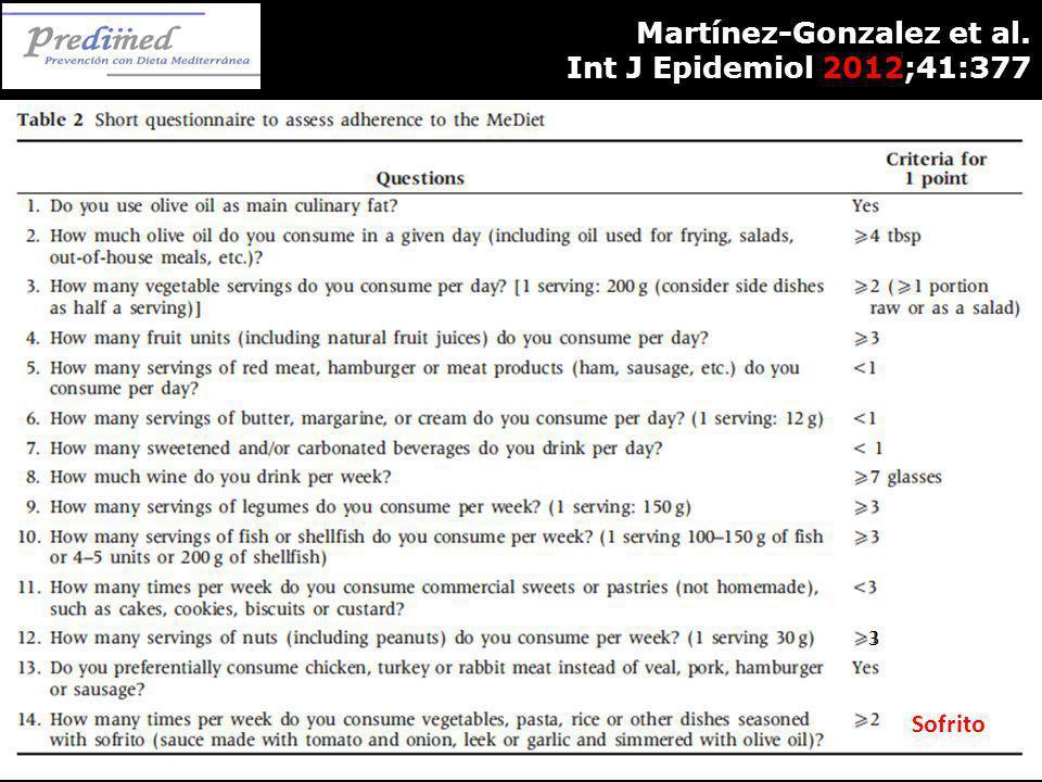 Martínez-Gonzalez et al. Int J Epidemiol 2012;41:377 Sofrito 3