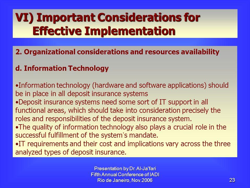 Presentation by Dr.