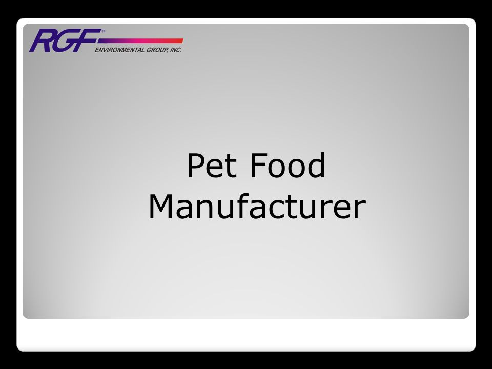 Pet Food Manufacturer