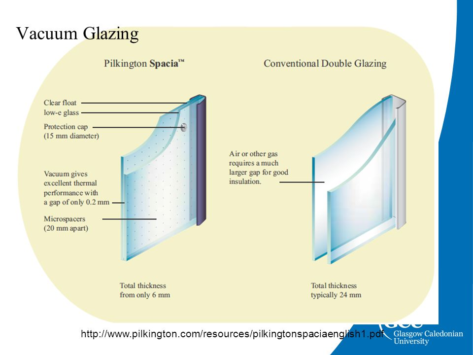 http://www.pilkington.com/resources/pilkingtonspaciaenglish1.pdf Vacuum Glazing