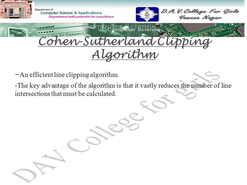 - An efficient line clipping algorithm.