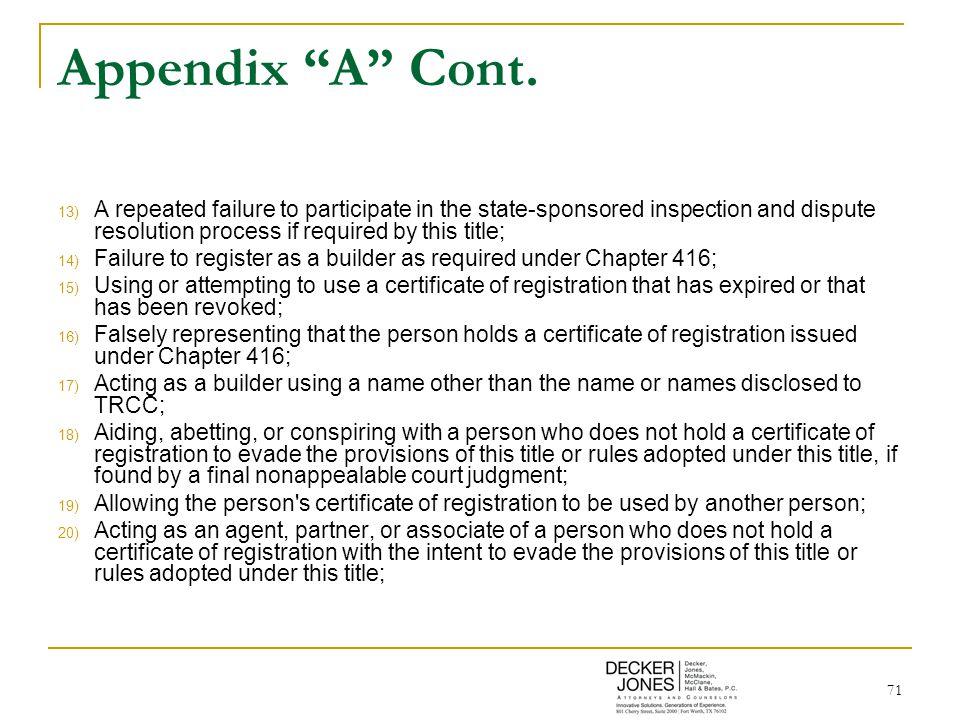 71 Appendix A Cont.