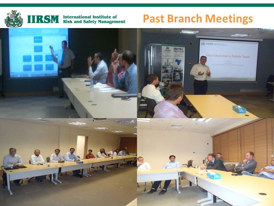 Past Branch Meetings
