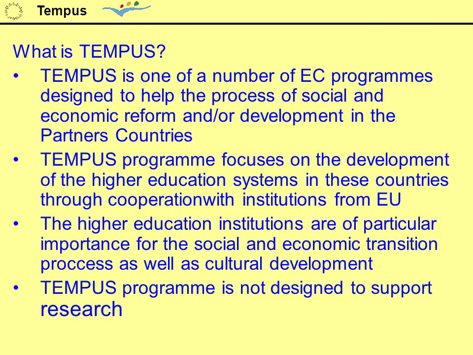What is TEMPUS.