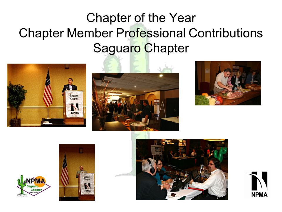Chapter of the Year Chapter Member Professional Contributions Saguaro Chapter