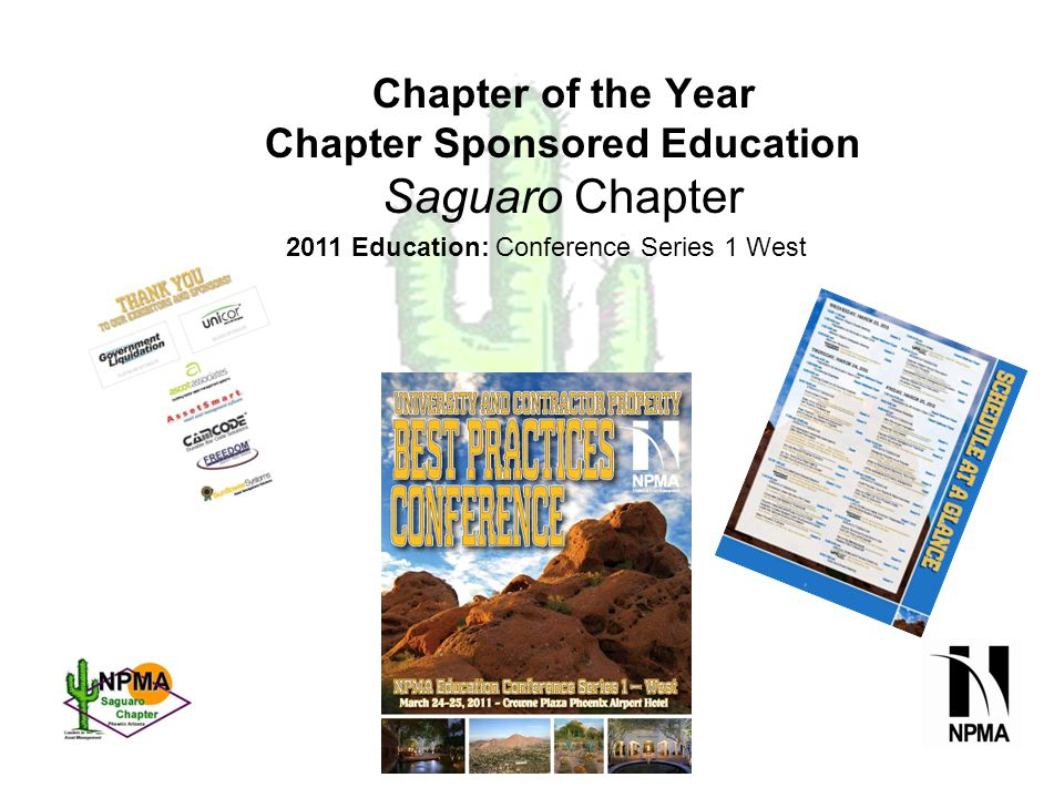 Education Conference Presentations by Chapter Members