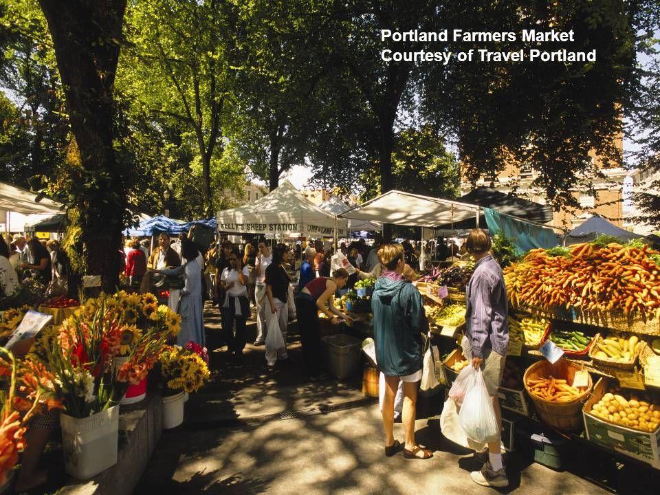 Portland Farmers Market Courtesy of Travel Portland