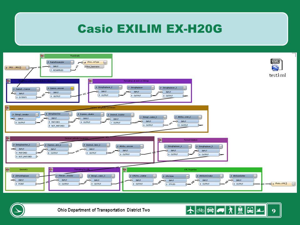 9 Ohio Department of Transportation District Two Casio EXILIM EX-H20G