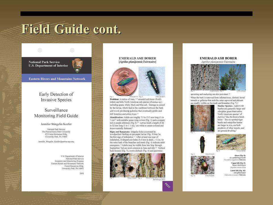 Field Guide cont.