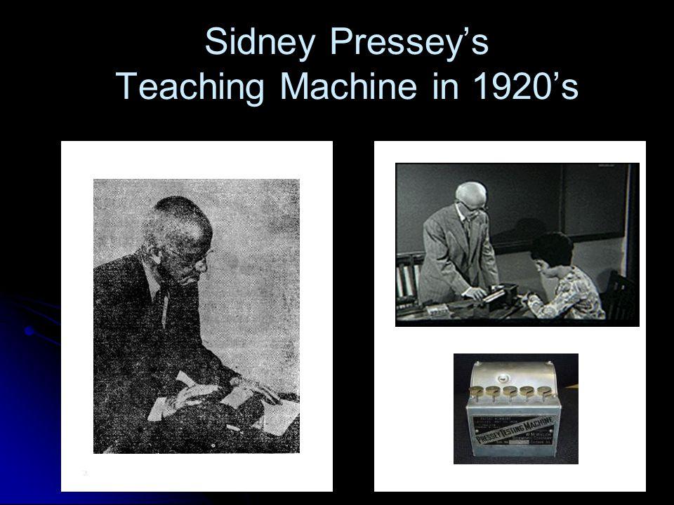 Sidney Pressey's Teaching Machine in 1920's