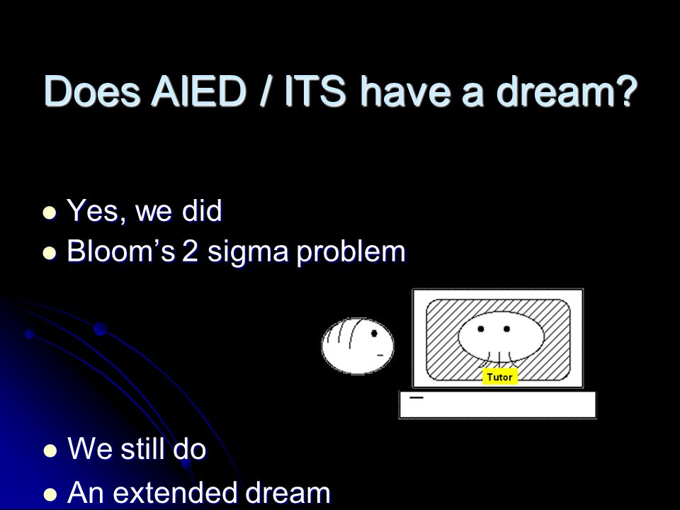 Does AIED / ITS have a dream.