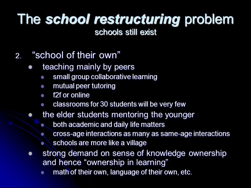 The school restructuring problem schools still exist 2.