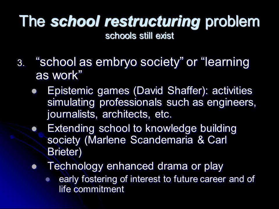 The school restructuring problem schools still exist 3.