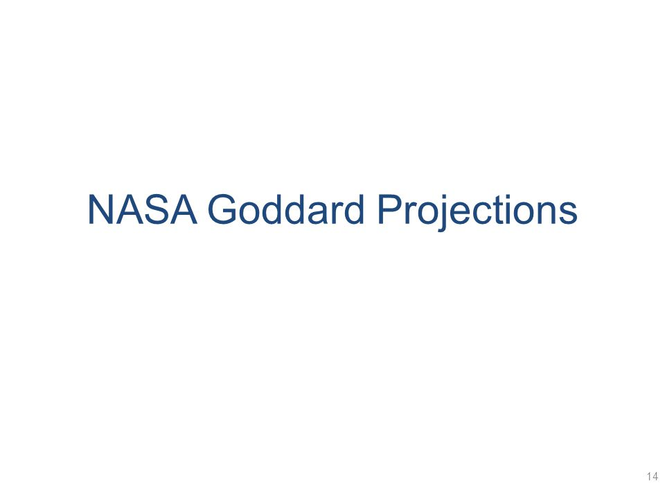 NASA Goddard Projections 14