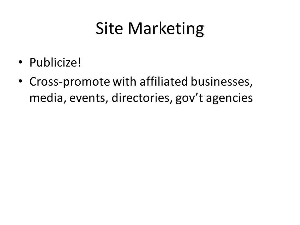 Site Marketing Publicize.