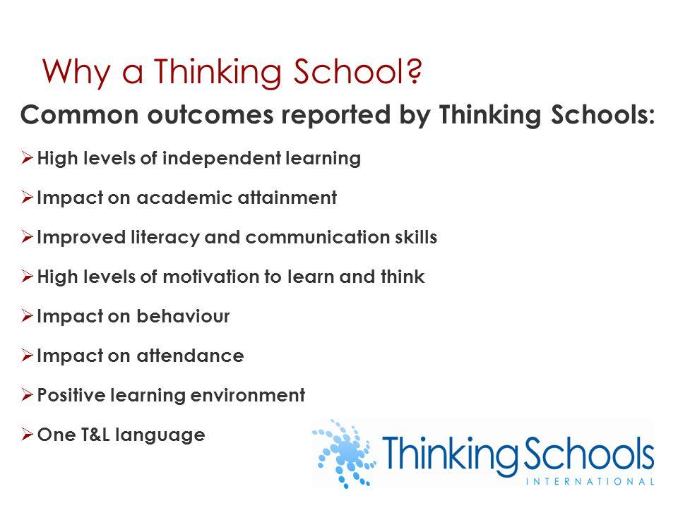Why a Thinking School.