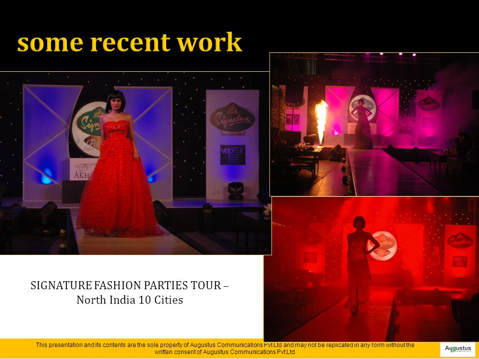 SIGNATURE FASHION PARTIES TOUR – North India 10 Cities