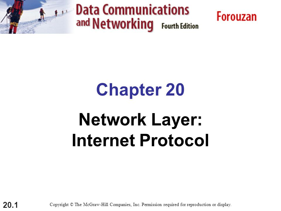 20.2 20-1 INTERNETWORKING In this section, we discuss internetworking, connecting networks together to make an internetwork or an internet.