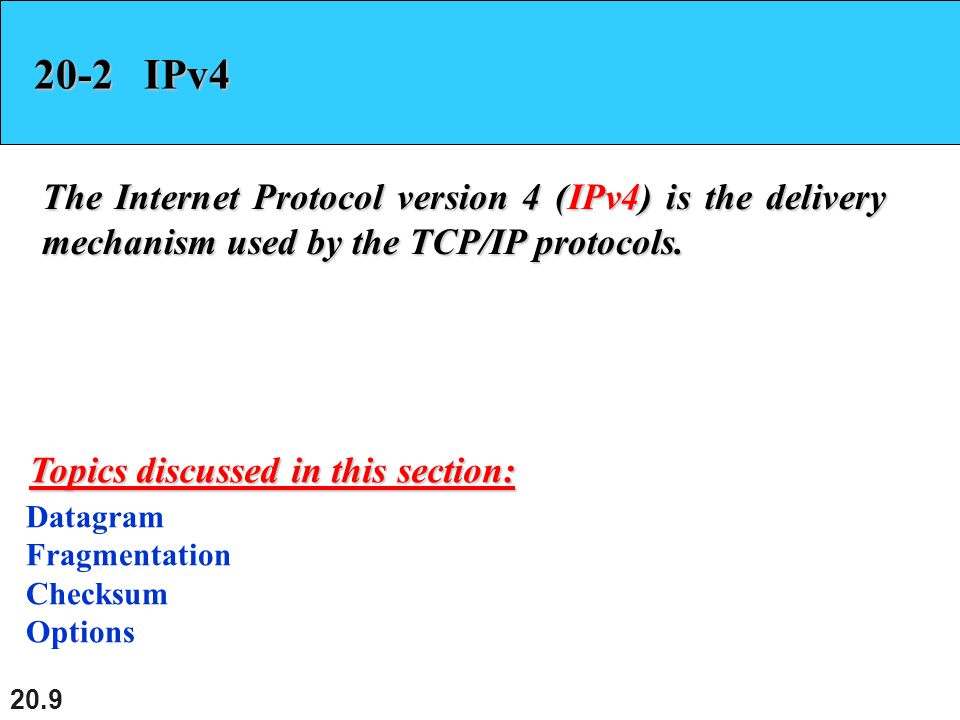 20.40 Figure 20.16 Format of an IPv6 datagram
